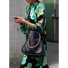 Print/Floral Long Sleeves Shift Casual/Elegant Maxi Dresses