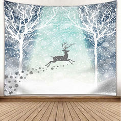 Modern Classic Christmas Rectangle Wall Tapestries