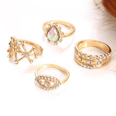 Exotic Alloy Women's Rings (Set of 4)