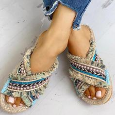 Сандалі взуття на короткій шпильці Тапочки з Кисточки з ниток взуття