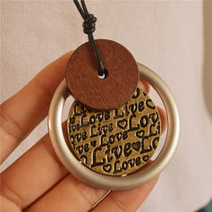 Lovely Alloy Leather Rope Necklaces