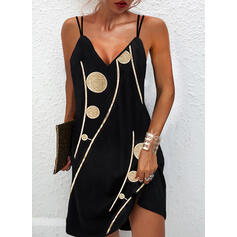 Impresión Sin mangas Vestidos sueltos Sobre la Rodilla Casual Camisón Vestidos