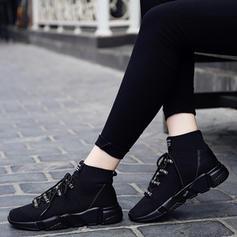 Unisex Tecido Casual Outdoor com Aplicação de renda sapatos