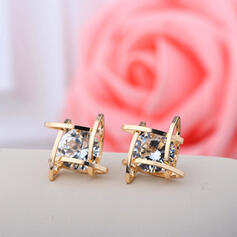 Beautiful Alloy With Rhinestone Ladies' Earrings