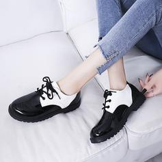 Women's PU Low Heel Flats With Lace-up shoes
