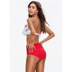 Taille Haute Chaîne Dos Nu À La Mode Bikinis Maillots De Bain