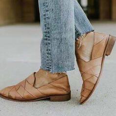 Donna PU Senza tacco Ballerine con Incrociato scarpe