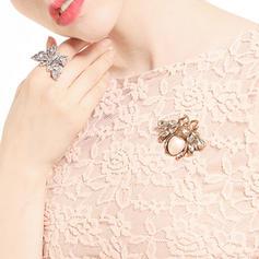 Glänzende Legierung mit Nachahmungen von Perlen Frauen Mode-Broschen