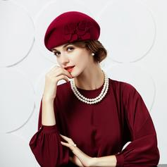 Ladies' Beautiful Wool With Flower Beret Hats/Tea Party Hats