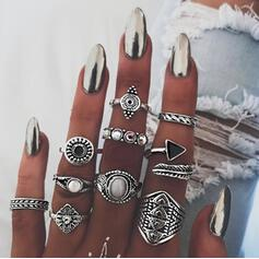Boho Artistic Alloy Women's Rings 10 PCS