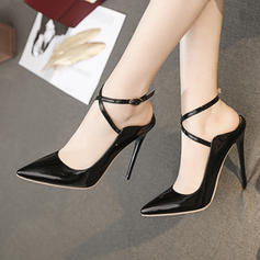 Women's Patent Leather Stiletto Heel Pumps Slingbacks shoes