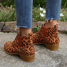 Kvinner Semsket Stor Hæl Ankelstøvler med Spenne Elastisk bånd sko