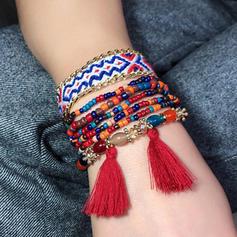 Schöne Modisch Exotisch Legierung Frauen Armbänder (Set 7)