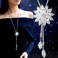 Shining Exquisite Pretty Floral Design Alloy Necklaces