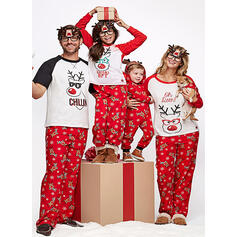 Cartoon Print Family Matching Christmas Pajamas