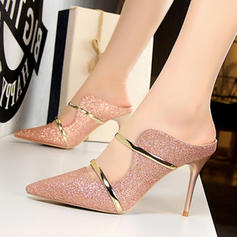 Women's Fabric Stiletto Heel Pumps With Sequin shoes