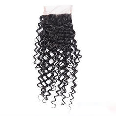 "4""*4"" 3A Kinky Curly Human Hair Closure (Sold in a single piece) 30g"