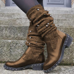 Women's PU Low Heel Boots With Rivet shoes