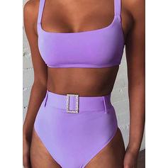Wysoki stan W prążki Seksowny Bikini Stroje kąpielowe