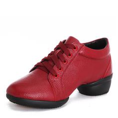Women's Modern Jazz Sneakers Sneakers Real Leather Modern
