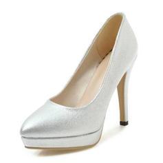 Femmes Similicuir Talon cône Escarpins Plateforme Bout fermé chaussures