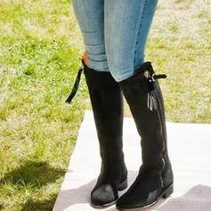 Квадратні підбори Бокові черевики з Пряжка Блискавка Кисточки з ниток взуття