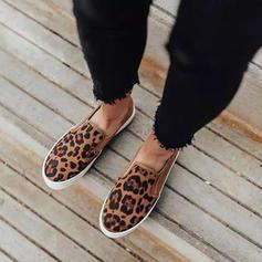 Frauen PU Lässige Kleidung mit Tierdruckmuster Schuhe