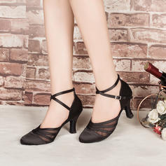 Women's Ballroom Heels Pumps Satin Latin