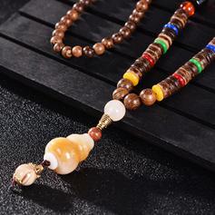 Alla moda Esotico Elegante Perline di legno Misto Collane