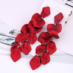 Stylish Flower Shaped Alloy Earrings Christmas Jewelry