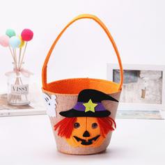 Trick or Treat Buckets, Halloween Candy Bucket Bags-Kids(Set of 2)