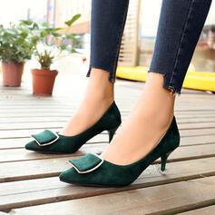 Femmes Suède Talon stiletto Escarpins Bout pointu chaussures