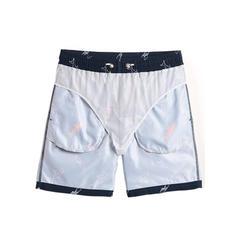 Pour des hommes Poisson Doublé Shorts de bain