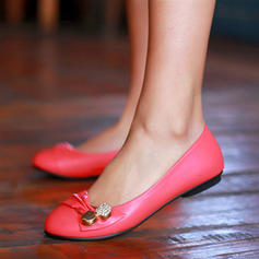 Donna Similpelle Senza tacco Ballerine Punta chiusa con Fibbia scarpe