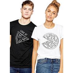 Hän ja hän Print Vastaavat Pari T-paidat