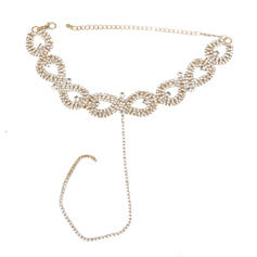 Alliage Strass Dames Collier de mode