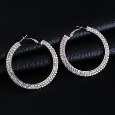 Shining Alloy Rhinestones Earrings (Set of 2)