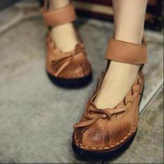 Women's PU Flat Heel Flats With Bowknot shoes