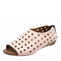 De mujer PU Tacón bajo Sandalias con Agujereado zapatos