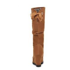 De mujer Ante Tipo de tacón Botas longitud media zapatos