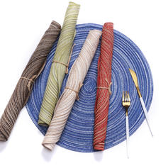 Casual Round Cotton Yarn Place Mats