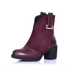 Femmes Similicuir Talon bottier Bottines avec Boucle chaussures