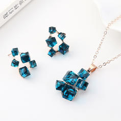 Simple Alloy Glass Jewelry Sets (Set of 2)