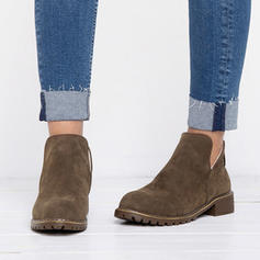 Women's PU Low Heel Closed Toe Boots With Others shoes