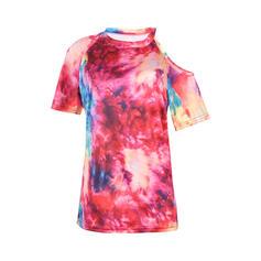 Tie Dye Rundhalsausschnitt Kurze Ärmel T-Shirts