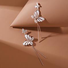 En forme de papillon Charme Alliage Boucles d'oreilles 2 PCS