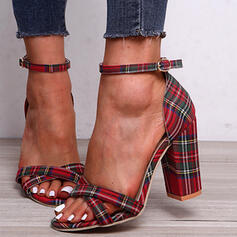 Naisten Kangas Chunky heel Sandaalit jossa Solki kengät