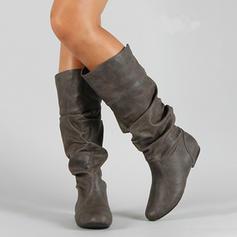 Femmes Similicuir Talon plat Bottes Bottes hautes avec Autres chaussures