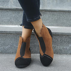 Vrouwen Suede Chunky Heel Laarzen schoenen