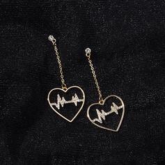 Καρδιά Κράμα Ρινιέτες Σκουλαρίκια 2 PCS